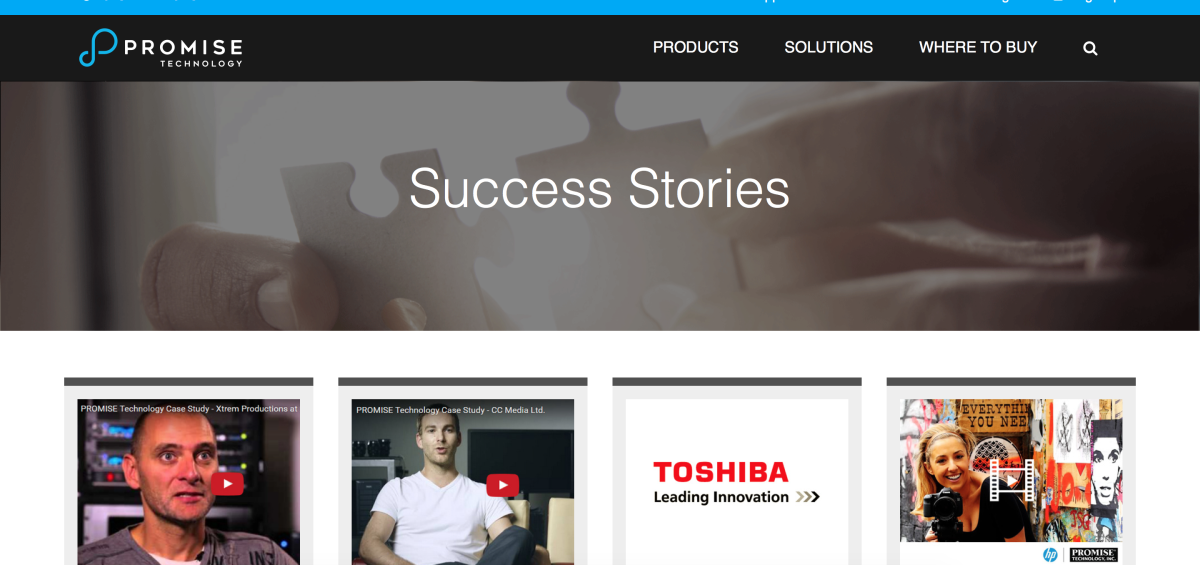 Success Stories - Promise Technology